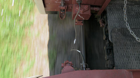 Wagon compund of the train Footage