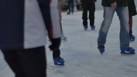 People Ice Skating Footage