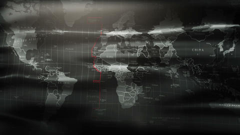 3d animated flag in 4k. The flag map of the world in a military style Footage