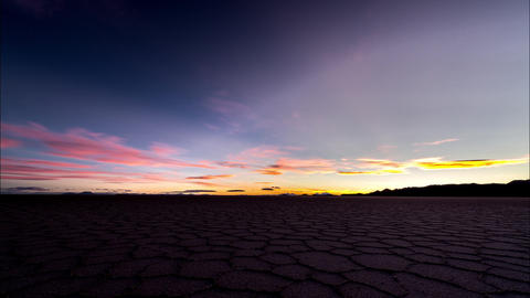 Sunset over Uyuni Salt Flats Footage
