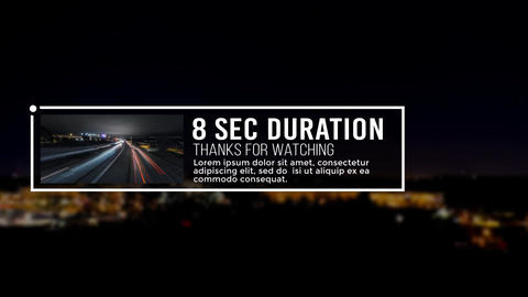 4K Modern Lower Thirds After Effects Template