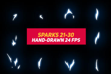 Liquid Elements Sparks 21-30 After Effects Template