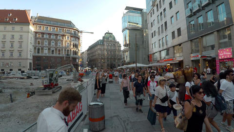 Vienna. Old Wien. Architecture, old houses, streets and neighborhoods. Austria. Footage