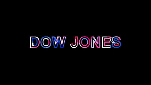 Letters are collected in World stock index DOW JONES, then scattered into Animation