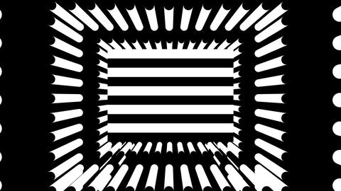 Abstract background with black and white stripes Footage