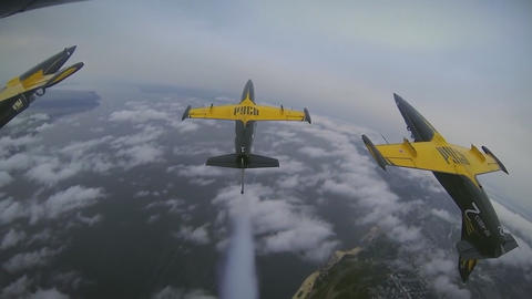 flying aerobatic team GoPro Footage