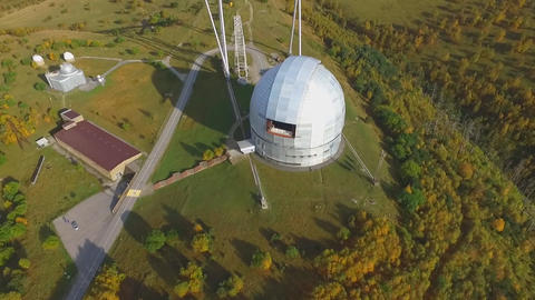 top view of the Russian Academy of Sciences Large Telescope Live Action