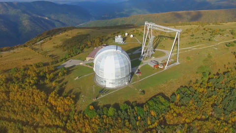 top view of the Russian Academy of Sciences Large Telescope Footage