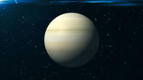 Saturn animation background. 3d rendering Image