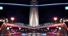 4k trippy time-lapse footage of Las Vegas, Nevada at night Footage