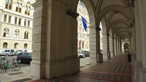 Vein. Vienna. Wien. Vienna Old Town Hall. Rathaus. Austria. 4K Live Action