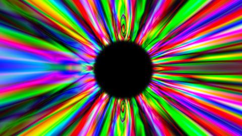 3d render psychedelic multicolor tunnel. Digital background ภาพวิดีโอ