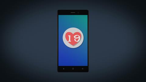 Phone favourite like heart 4K like social media subscribe Animation