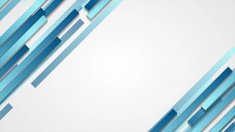 Blue geometric abstract tech motion design Animation