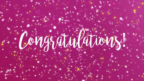 Congratulations greeting card Animation