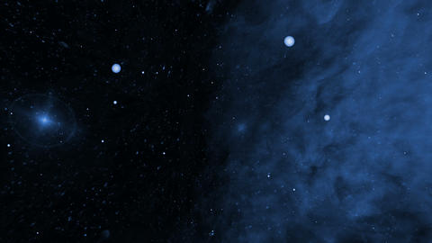 Deep Space, Blue Nebula and Star Fields Animation