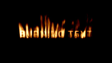 Burning Text Template Motion Graphics Template