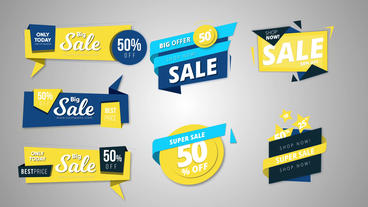 11 sale banners After Effects Template