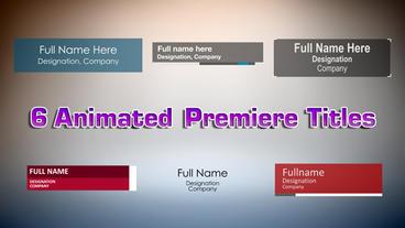 Premiere Title - 6 Pack Premiere Pro Template