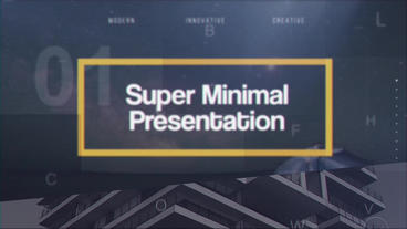 Super Minimal Presentation After Effects Template