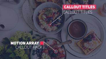 20 Callout Pack After Effects Template