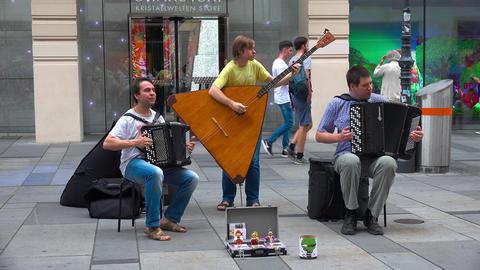 Russian musicians in Vienna, Austria. 4K Footage