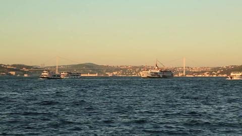 Bosporus Bridge In Istanbul Turkey Footage