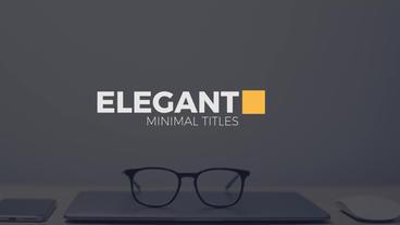 Elegant Modern Titles Premiere Proテンプレート