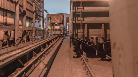 mechanism for tipping wagons time-lapse (GoPro) Footage
