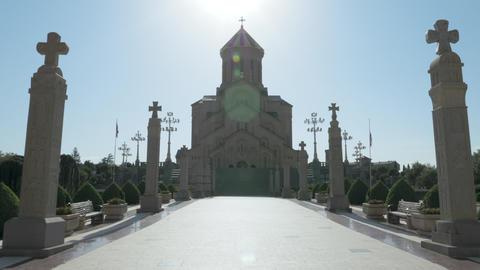 Holy Trinity Cathedral of Tbilisi Tsminda Sameba - Georgia Footage