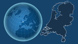 Netherlands and Globe. Solids Animation