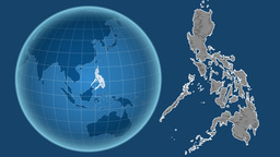 Philippines and Globe. Bumps Animation