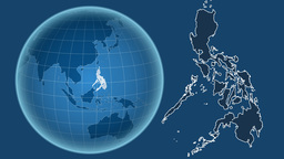Philippines and Globe. Solids Animation
