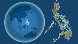 Philippines and Globe. Relief Animation