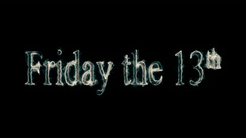 Friday The 13th Creepy Mist Loopable Video stock footage