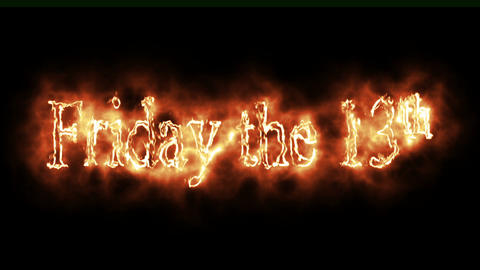 Friday the 13th Burning Logo Loopable Video Animation
