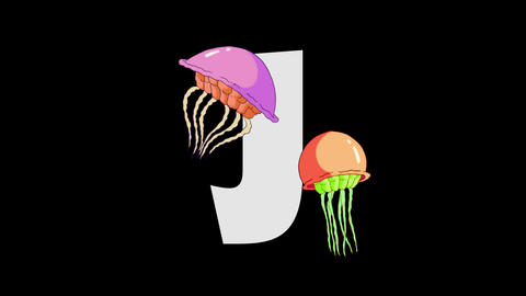 Letter J and Jellyfish (background) Animation