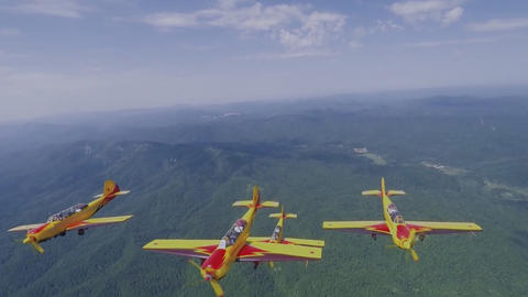 "Russian aerobatic team ""first flight"" in flight (GoPro) Live Action"