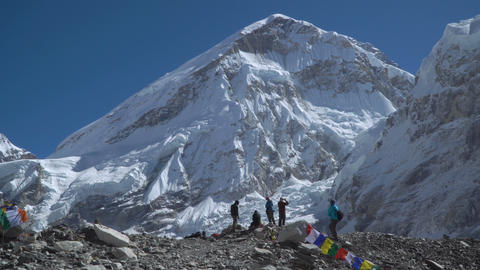 Tourists near Mount Everest Footage