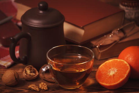English tea with books Photo