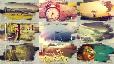 Beautiful Brush Strokes After Effects Template