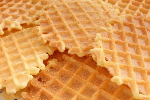 Closeup homemade waffles Photo