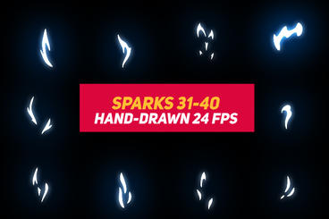 Liquid Elements Sparks 31-40 After Effects Template