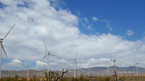 Driving Past A Wind Farm ビデオ
