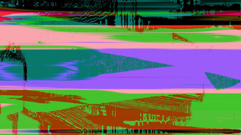 Glitch Datamosh Noise Colored Geometrical Distorted Animation Background Animation