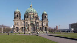Tourists At Berliner Dom, Berlin Cathedral, On Museum Island In Berlin, Germany Footage