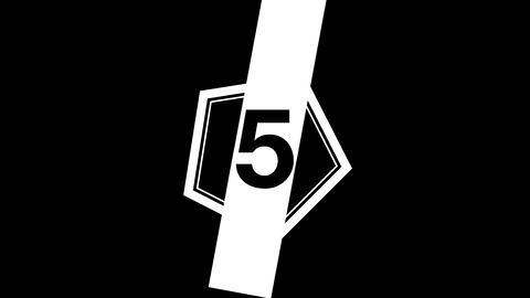 Glitch countdown - Count05 Animation