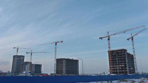 High Tower cranes time lapse ビデオ