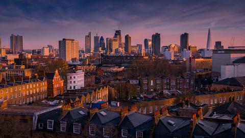 City of London Skyline, London, England UK Image