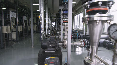 Equipment at Plant for Tubular Products Production Live Action